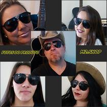 Oculos De Sol Aviador Original Marca Addict Uv 400 + Brindes