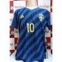 Camisa Seleção Da Suécia Azul Nº 10 Ibrahimovic