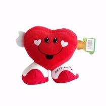 Almofada Coração De Pelúcia Eu Te Amo - Dia Dos Namorados