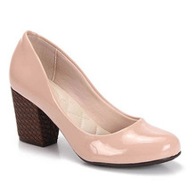 Sapato Salto Feminino Moleca - Nude