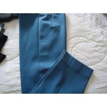 Calça Azul Helanca Alfaiataria