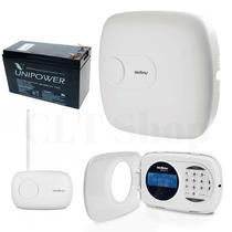 Central Alarme Amt 4010 Smart + Teclado + Bateria + Receptor