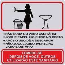 Placa Sinalização Banheiro Sanitário Feminino Mulher 15x15cm