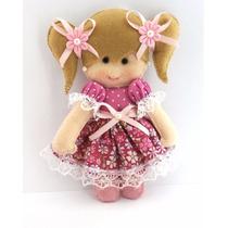 Boneca 10cm Feltro Lembracinha Maternidade Bebê Gl005ab