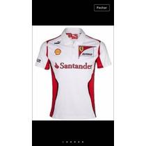 Camisa Polo Ferrari F1 Santander Scuderia Confira