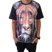 Camiseta Do Reggae Com Leão - Promoção