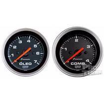 Kit Manômetro Pressão Óleo 7k Combustivel 4kg Sport Cronomac