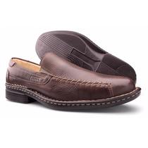 Sapato Masculino Couro Legítimo Detalhe Costuras Zalupe