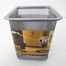 Porta Canetas, Lápis, Regua, Clips Etc Em Metal - Cesta