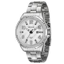 Relógio Masculino Seculus Long Life 28584g0svna1 50mm Prata