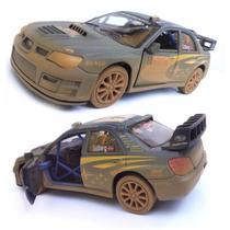 Carro Miniatura Subaru Impreza Ferro Metal Carrinho Fricção