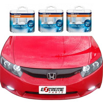 Kit Lâmpadas Honda New Civic Osram Cool Blue H11 Hb3 Hb4