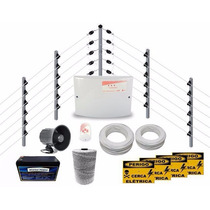 Kit Cerca Elétrica Industrial C/ Big Hastes Completa P/ 50m