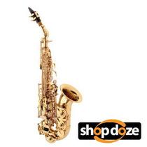 Saxofone Soprano Curvo Hofma Hsp408 Sib (bb) Laqueado