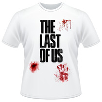 Camiseta The Last Of Us Joel Ellie Sangue Game Camisa
