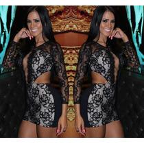 Vestido Black Devine Balada Curto Festa Estilo Panicat Miss