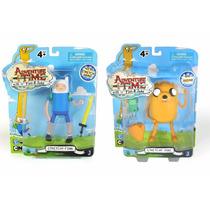 Kit 2 Bonecos Hora Da Aventura Jake + Finn - Cartoon Network