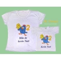 Camiseta Galinha Pintadinha Personalizada 2 Unid