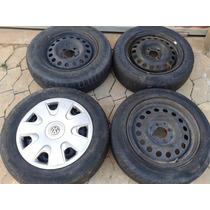 Jogo De Rodas Com Pneus R14 175/70 Vw / Ford