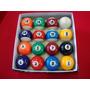 Bola Bilhar / Sinuca / Snooker 54mm 15 Numeradas + 1 Branca