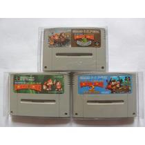 Donkey Kong Country 1 2 3 Original Snes Super Famicom