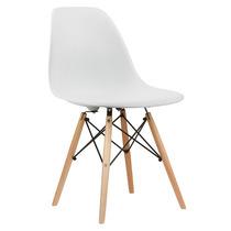Cadeira Design Charles Eames Wood Eiffel Dsw Eiffel Branca