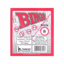 Bloco P/ Bingo Rosa 100 Fls Emb 15 Unid Tamoio