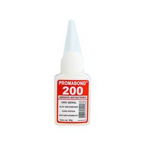 Cola Cianoacrilato 20 Gramas Promabond 200 Alta 8 Unidades