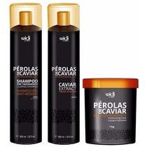 Escova Perólas De Caviar Widi Care+máscara De 01 Kg