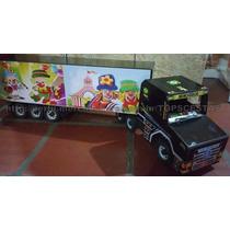 Caminhão Madeira Artesanal Patati Patata Palhaço Brinquedo