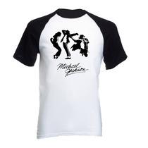 Camiseta Adulto Raglan Michael Jackson Thriller Pop 05