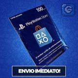 Cartão Psn Playstation Br Brasil Brasielira De R$ 100 Reais