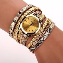 Relógio Feminino Pulseira Em Couro Retro Vintage