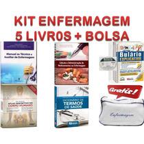 Kit Enfermagem !!! - 5 Livros Básicos + Bolsa Grátis ....