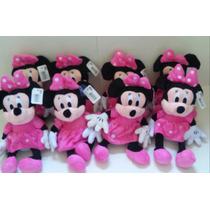 Minnie De Pelúcia Rosa Ou Vermelha Kit C/10