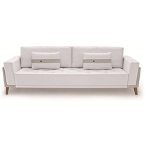 Sofá Elegante Estar Living Olli Almofadas Soltas 2,30 Mts