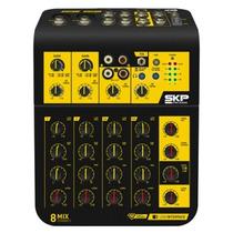 Mesa De Som Skp 8 Canais Mix Connect 8 Com Interface