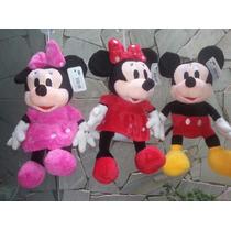 Kit C/ 6 Minnie Ou Mickey 25cm Pelucia Importada Atacado