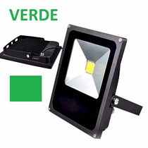 Refletor Led Holofote 20w Verde Bivolt Ip66 Promoção