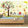 Painel Adesivo Safari Decorativo Parede Infantil Zoo Mod08