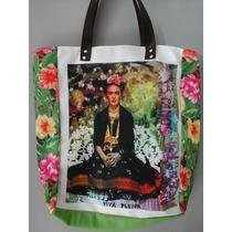 Bolsa Frida Kahlo Alça De Couro Nova Super Linda!