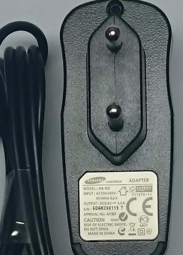 Carregador Filmadora Samsung Sc d33