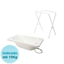 Banheira Rígida Básica Com Suporte - Branco Galzerano