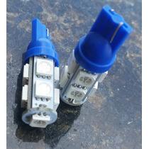 Kit 10 Lampada Led Automotiva Pingo 9 Leds-azul