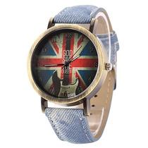 Relógio Importado Barato God Save The Queen Relógio Barato