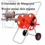 Carretel Enrolador Mangueira Expansível Promoção Portátil