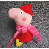 Boneca De Pelúcia Peppa Pig George Coleção Inverno