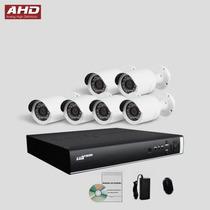 Kit Ahd Monitoramento Segurança Dvr Luxvision 6 Camera Cftv