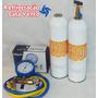 Kit Carga Gas Inverter 2 R410a 650g, Manifold, Mangueiras
