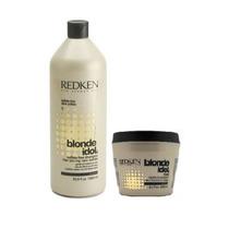 Redken Shampoo 1000ml + Mascara 250g Blonde Idol Novo Glam